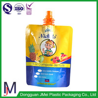 5oz size pouches stand up spouted at the top fruit puree drink pouch with corner spout