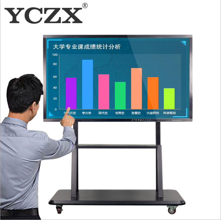 65 inch I5 4G 500G pc interactive whiteboard televisores smart tv for advertising and presentation