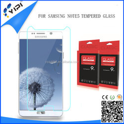 scratch resistance 9h anti shock tempered glass full transparent screen protector for Note5