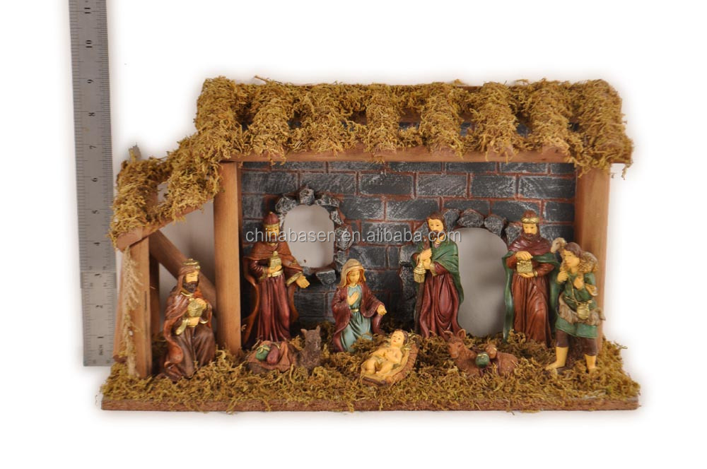 Christmas polyresin village nativity figurines