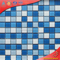 New design decoration material spanish glass mosaic for swimming pool tile