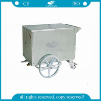 AG-SS035A Stainless steel hospital mobile food cart design with wheels