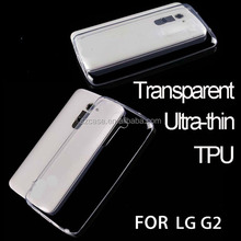 Ultra-thin transparent clear tpu case cell phone case for Lg G2