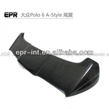 For Volkswagen Polo 6 Carbon Fiber A-Style Rear Spoiler