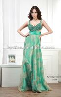 Green Sequins Beaded Wholesale Sexy Long Evening Dresses for Veiled 5168