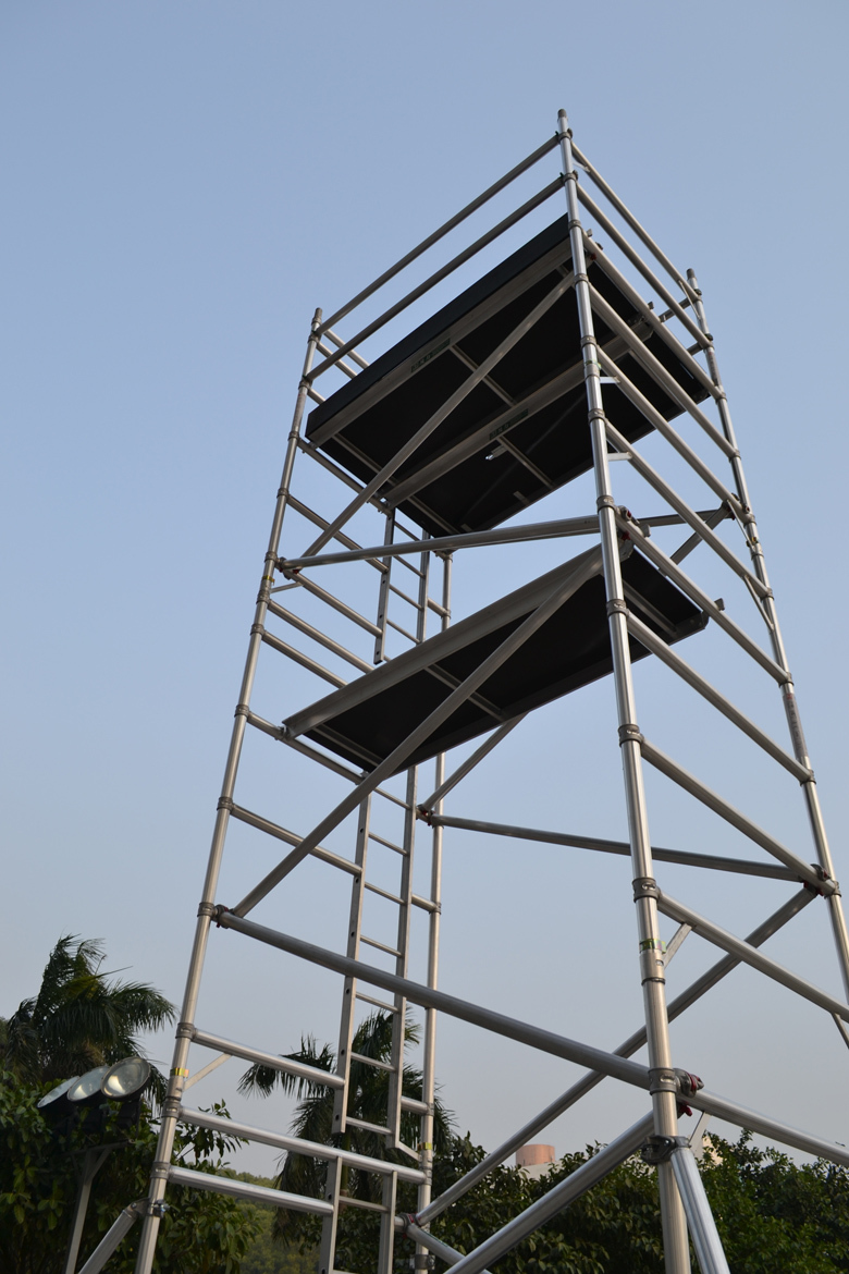 Aluminum Scaffold Tower : Double scaffoldings aluminium scaffold tower buy