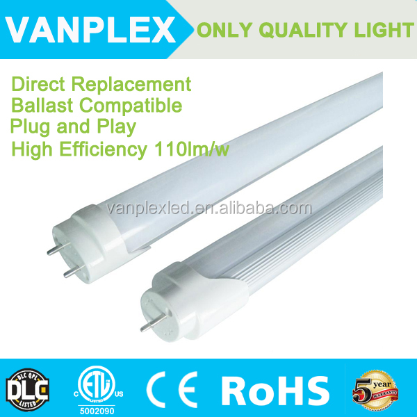 ETL&DLC certified USA Canada Market China sale electronic ballast compatible led tube , plug and play