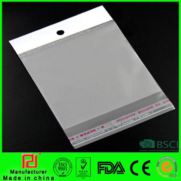 Cheap custom clear resealable screen printing plastic bag with hang holeing Bags Resealable Bags