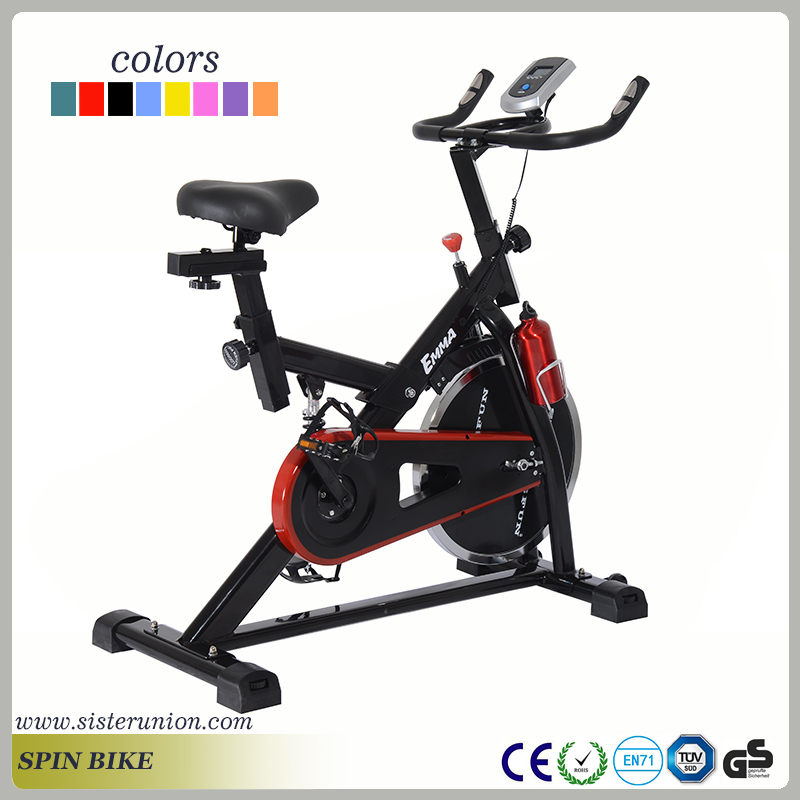 Stationary Power Exercise Bike Fitness Cardio Cycling Adjustable LCD computer