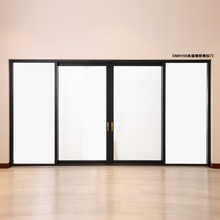 Automatic Electric Sensor Insulating Aluminum System Low-E Triple Glass Sliding Slide door
