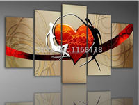 5 Piece Art Set! Love Story! 100% Hand painted Modern Abstract fashion Oil Painting On Canvas Top Home Decoration paint