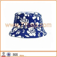 Summer fashion printing kid plain bucket hat