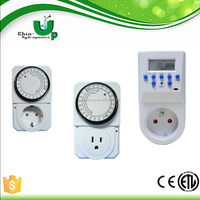 greenhouse weekly mechanical timer/greenhouse 24 hours grounded grow light timer/hydroponics accessory of timer