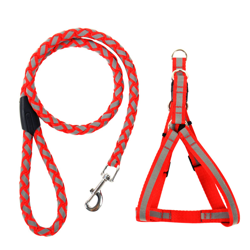 Reflective Light Pet Harness And Leash Dog Leads Put Your Brand In The Product