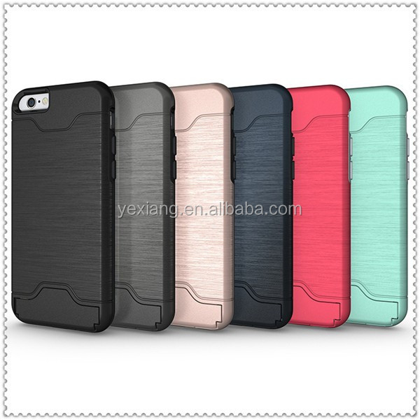 high quality mobile phone case cover for iphone 7 plus pc+tpu 2 in 1 case