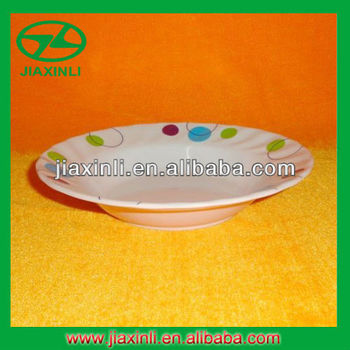 7'' Deep Melamine Rice Plate With Wave