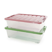 2017 Wholesale Houseware Widely Used Under Bed Stackable Plastic Sundries Sorting Container Clothing Storage Box with Lid
