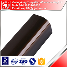 Quality hot sale aluminium brown color sliding window section in factory