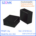 wall mounting small black color extrusion aluminum profiles