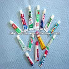 Small toothpaste tube for hotel