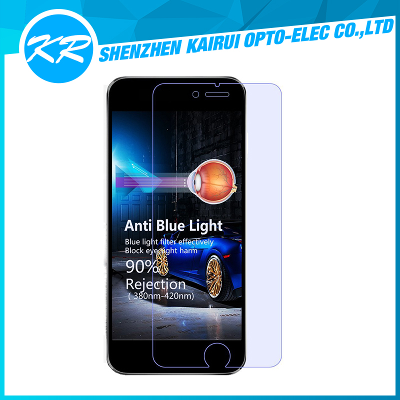 High transparent 0.21mm ultra thin anti blue light anti scratch 9h hardness tempered glass screen protector for iPhone 7