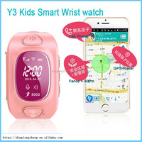 GSM Quad Band Cell Phone Y3 Kids Smart Wrist Watch WIFI(Optional) GPRS GPS Anti Drop Health Sleeping Monitoring Pedometer
