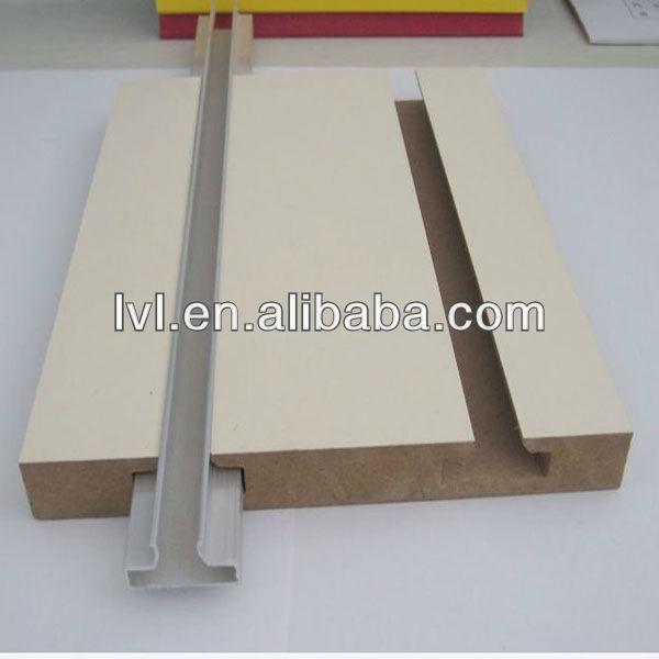 White Melamine Slotted MDF Board With Alu Bar