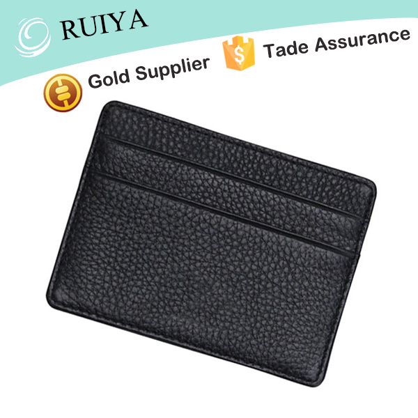 Best Mens Personalized Slim RFID Blocking ID Credit Card Wallet Thin Cow Genuine Leather Holder