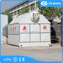 Horizontal steam generator wood chips fired industrial boiler