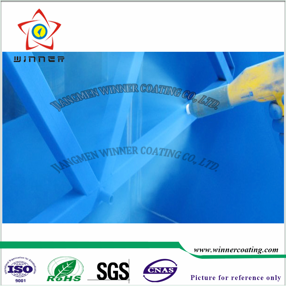 Outdoor iron construction use anti UV blue spray powder paint