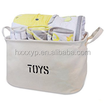 "New design of Jute Storage Bin 17 x 13 x 10"" perfect for Toy Storage. Storage Basket for organizing Baby Toys, Kids Toys, Baby"