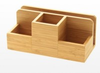 Wholesale Bamboo Desk Organizer storage rack memo pad office stationery list