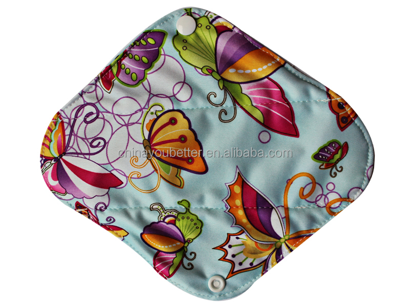 "Cheap Bamboo Mama Cloth Menstrual Sanitary Pad 8"" Ladies Cloth Panty Liners"