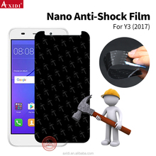 Raw matarial Nano flexible explosion proof transparent screen protector TPU film for Huawei Y3 smart phone