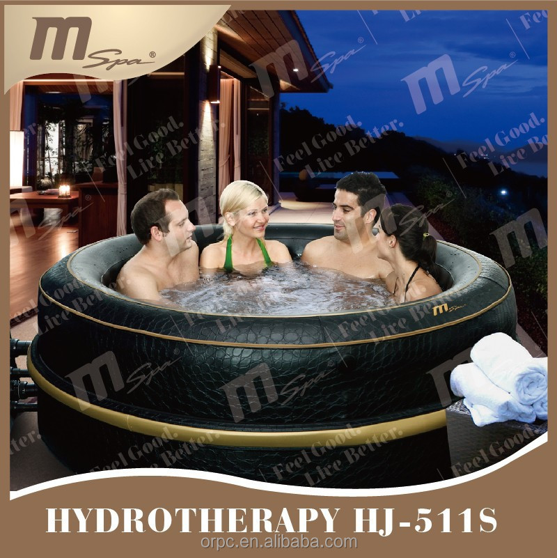 Inflatable hydro jet spa 6 person portable whirlpool / massage spa MSpa Luxury Exotic HJ-511S