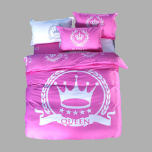 100% Polyester Queen/King Size Classic Carton Series Design Comfortable 3D Bed Sheet Set Bedding Set