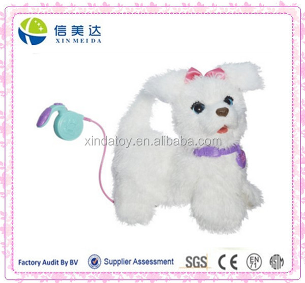 Walking White Vivid Puppy Electronic Plush doll Toy for kids