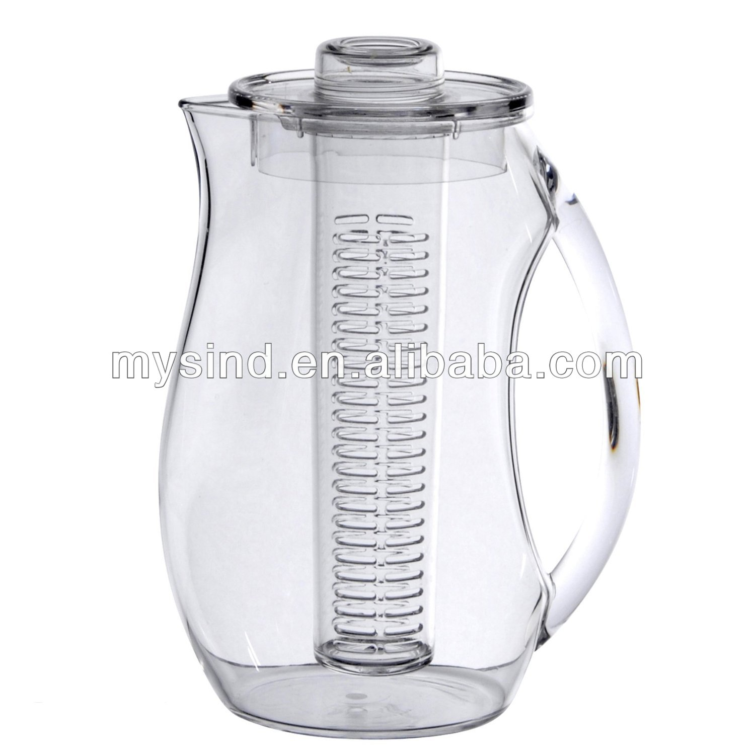 plastic fruit infusion jug, water infuser pitcher, plastic water jug