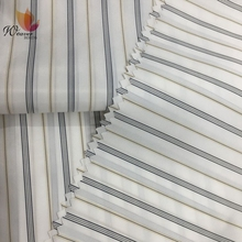 Wholesale Coat Inner Lining Fabric Polyester Stripe Shirt Lining Fabric