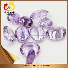 Untreated millenium cut gem oval shape natural stone amethyst