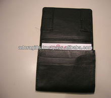 The traditional bi - fold business card holders / genuine leather credit card cases / atm card holders