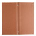 Pu Leather Bifold Hardcover Menu Holder Cardboard Menu Covers