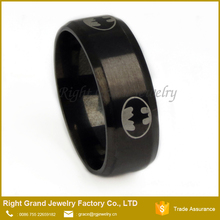 Wholesale Price 316L Surgical Steel Black Gold Plated Engagement Ring