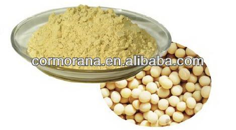 GMP&ISO 100% natural soybean extract 40% Soy isoflavones