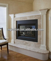 Light Emperador Marble Fireplace Manufacturer