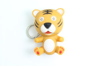 promotional plastic cartoon tiger keychain, Animal keychain toys