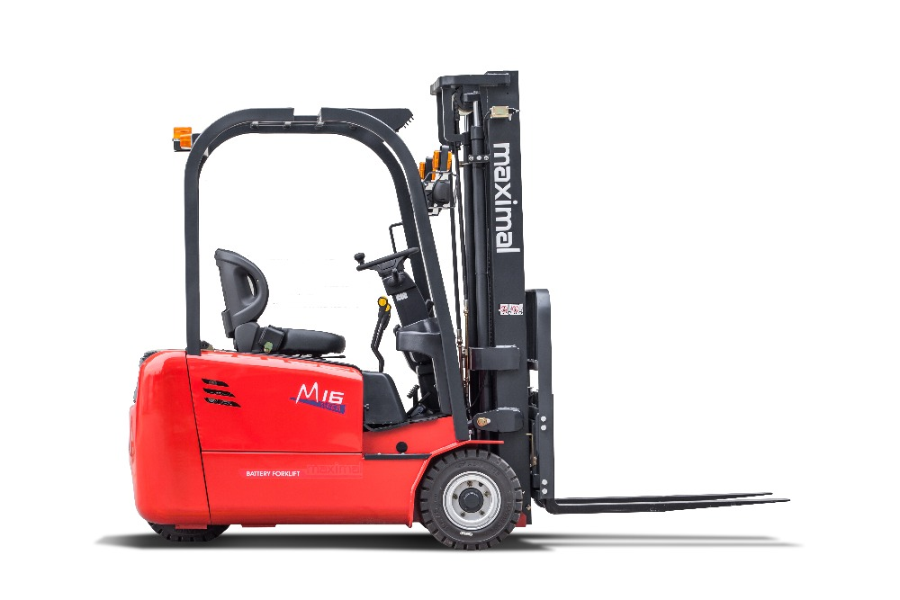 1.6 Ton Maximal 3 Wheel Rear Drive Electric Forklift With Zapi Controller
