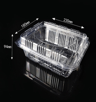 Taking away disposable plastic transparent fruit and vegetables packing box HTD2318(94)