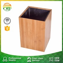 Custom Cheap Antique Orange Make Wooden Trash Can For Home