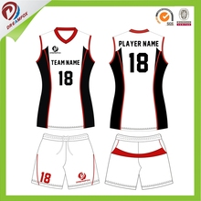 Promotion custom design mens volleyball jersey inflatable style volleyball uniform designs sublimated new design women volleybal